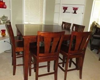 $300.00, High boy table & chairs VG condition