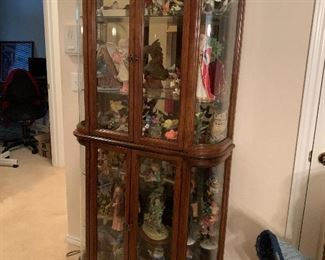 $675~ OBO~ FOUR DOOR LIGHTED CURIO CABINET