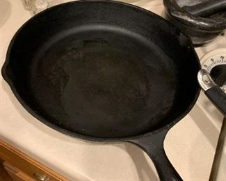 "$48- Large 12"" Cast iron pan. Made in the USA"