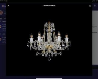 Crystal Chandelier from Czech Republic -New In Box-never used-still in original wrapping