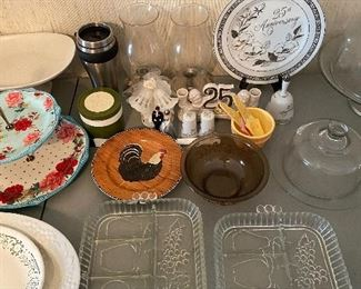Assorted Pottery and Glass