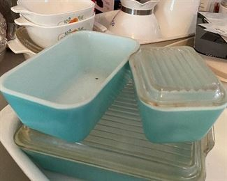 Robin Egg Pyrex Refrigerator Dishes