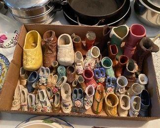Collection of Porcelain Miniature Shoes
