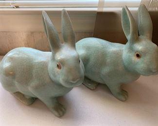 Pair of Decorative Rabbits