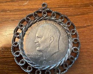 Eisenhower Dollar Pendant