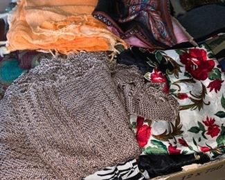 Large Assortment of Scarves