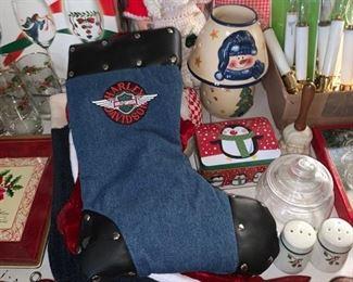 Christmas Decor/Harley Davidson Stocking