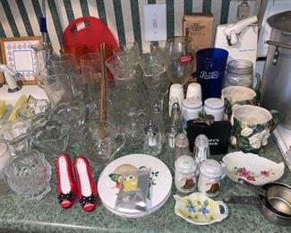 Assorted Glassware/Kitchenware