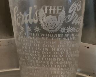 The Lord's Prayer Vintage Glass Tumbler