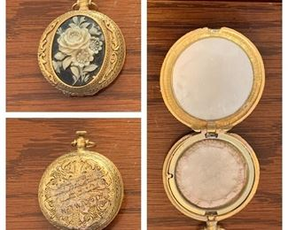 Victorian Rose Max Factor Pressed Powder Compact