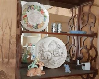 Shelf and knick knacks
