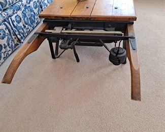 Antique Grain Scale used as a Coffee Table