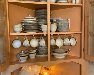Cabinet full of Noritake  china, 14 place setting plus extra plates and cups & saucers and many serving pieces. excellent condition, no chips $425