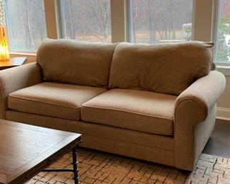 Custom upholstered sofa (Bassett Furniture).  Sofa: $300 each.