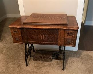 Vintage White sewing machine.  $250