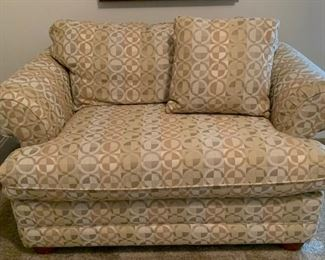 La-Z-Boy upholstered chair & a half couch.  Hideaway bed. $300