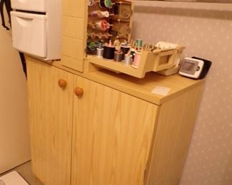 cabinet, sewing notions