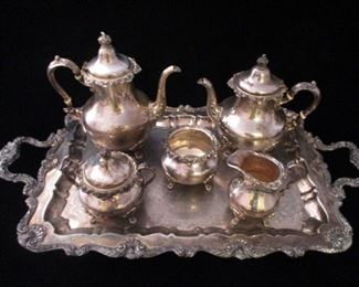 GORHAM STERLING SILVER COFFEE / TEA SET (TRAY IS S.P.)