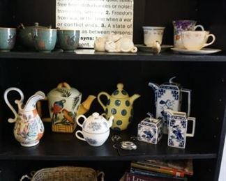 tea pots, cups and saucers, tea sets