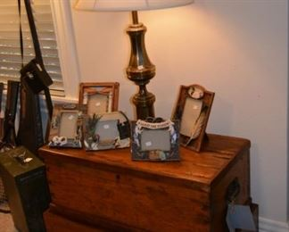 Duck decor and antique chest with clove box