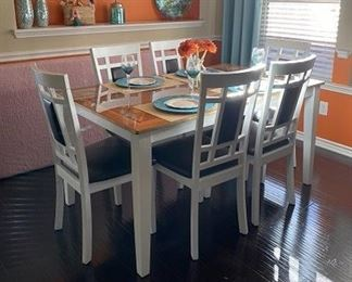 Formal Dining Table with  6 Matching Chairs