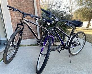 Two Bikes in excellent condition and ready for a ride!