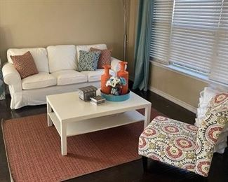 Sofa Chair Coffee Table - excellent condition and ready for your home!