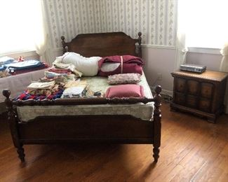 Four piece bedroom outfit. Bed, Night stand & two dressers. LEA  Industries. Kenbridge Virginia