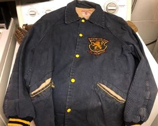 Mr. Krokker toured with the army baseball team in Europe and this was his jacket. Approximately early 50s