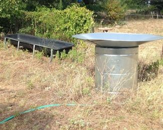 "Water Trough/Guzzler:  Purchased 2028.  Approximately:  (4'3""h x  18'Dia.):  $420.00"