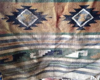 "Antique Native American Wool Horse Blanket (62""l  x 31""w):  $210.00"