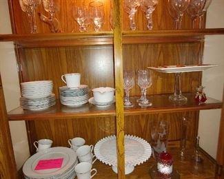 Glassware, Cake Plates, Wine Goblets