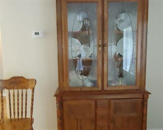 Lighted China Hutch with storage