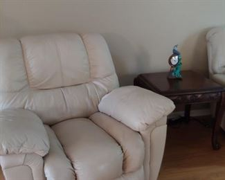 Leather Recliner, End Table