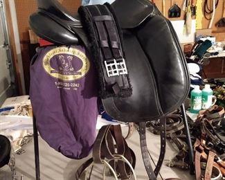 PRE SALE ITEM Custom adult leather saddle - (stirrups not included)  $950
