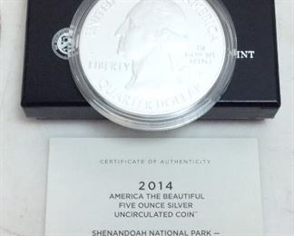 5 OUNCE U.S. MINT SILVER UNCIRCULATED