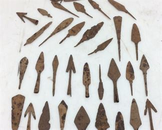 ANCIENT BRONZE AGE SPEAR TIPS