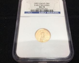 2007 $5 GOLD EAGLE GRADE MS70 BY