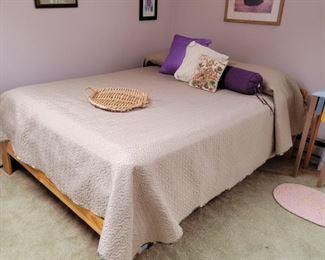wooden bed frame: 25 x 56
