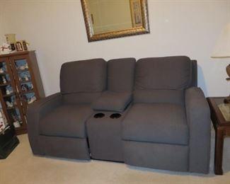 As New unused Contemporary Dark Gray Recliner Sofa  475.00