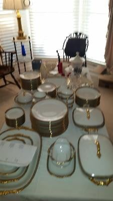 Service for 12  with many serving pieces Limoges Vignaud  175.00