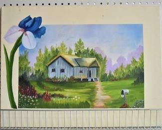 "Cottage | Acrylic on Canvas | Doyle Dyer | No Frame | 18"" x 24"""