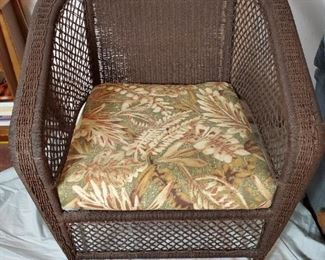 Wicker Style Lounge Chair