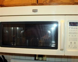 "Maytag Microwave/Hood Combination, Model MMV5208WQ-0, Manufactured 2010, Off White, 16.25"" x 29.75"" x 18"""