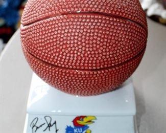 "Ceramic 7.5"" Basketball Bank Signed By Bill Self"
