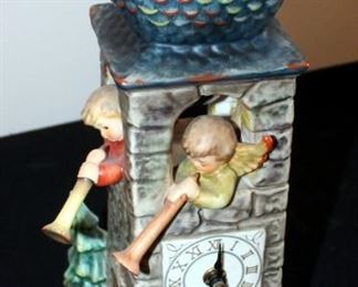 "M. J. Goebel Hummel Ceramic Clock ""Call To Worship"" Marked GES197, 13"" Tall"