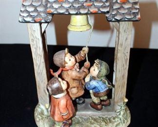 "M. J. Goebel Ceramic Hummel Figure, ""Lets Tell The World"", 11"" Tall"