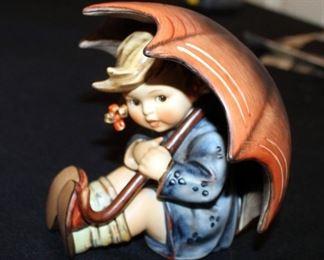 "M. J. Goebel Hummel Ceramic Figure, ""Umbrella Girl"" Marked Number 15220B, 4"" Tall"