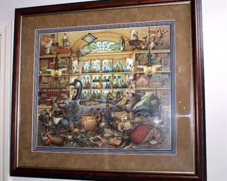"Vintage Turned Wood Corner Curio With 5 Shelves, 58"" x 26"" x 17.5"""