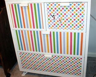 "Four-Drawer Metal Storage Cabinet, 37.25"" x 30.25"" x 18.5"""